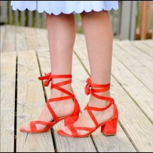 Sam Edelman Sandals In a beautiful Orange 🍊